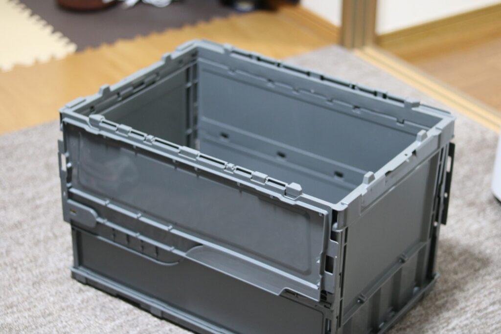 トラスコ 折り畳みコンテナ グレー