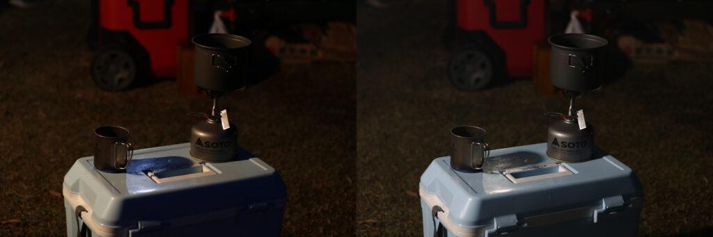 ガソリンランタンとマルチパネルランタンの比較